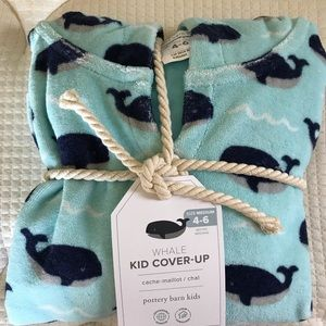 Pottery Barn Kids Whale Beach/Pool Cover Up